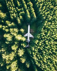 World & Travel: bird's-eye view aerial landscape photography