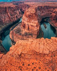 bird's-eye view aerial landscape photography